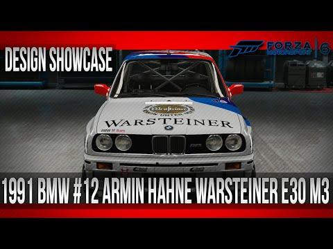 Forza 6 - Design Showcase - 1991 BMW #12 Armin Hahne E30 M3 (DTM Warsteiner)