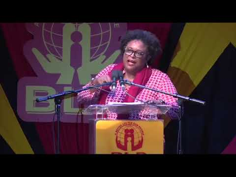 Mia Amor Mottley, Q.C., M.P. at BLP's Mass Meeting in Worthing