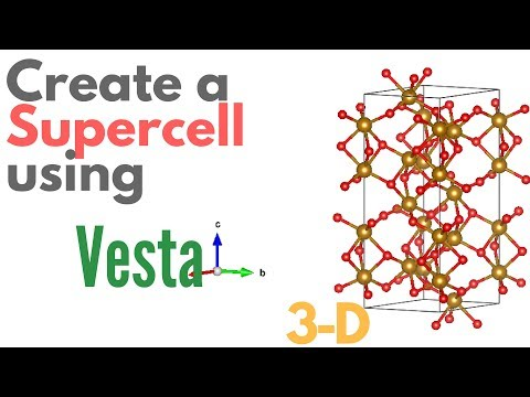 Create a SUPER-CELL using VESTA - [TUTORIAL #4] - YouTube