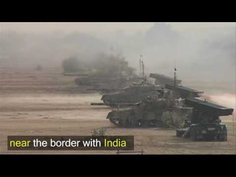 Pakistan armi near Indian border in ection