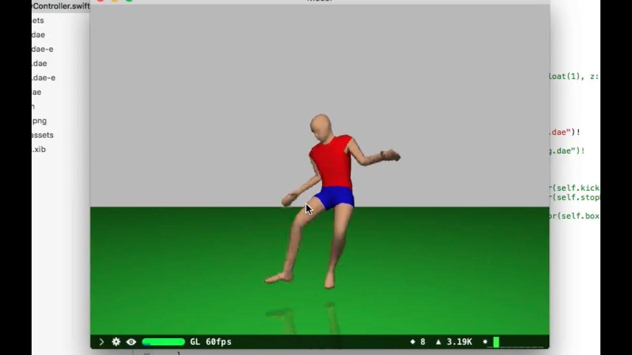 SceneKit Blender Collada 2 Animate