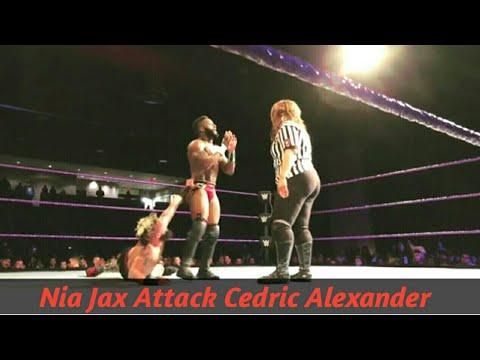 Nia jax Attack Cedric Alexander | Enzo vs Cedric | 205 tour | WWE 205 Lowell