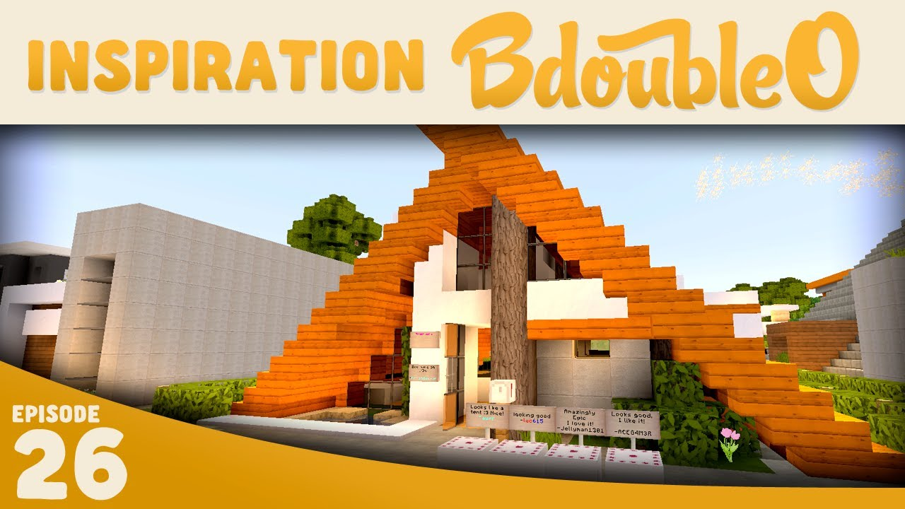 Minecraft :: Modern A-Frame House 2 :: Inspiration w/ Keralis - YouTube