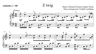 Aphex Twin - Z twig (Piano Cover with Sheet Music) Resimi