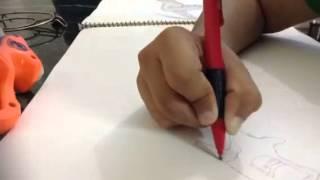 How to draw nerf gun reflex
