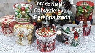 DIY de Natal Caixa de E.V.A Personalizada