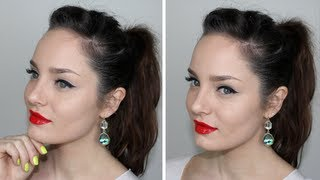 Everyday Glam Makeup: Red Lips and Snow White Skin