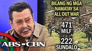 All out war, nakikitang solusyon ni Erap kontra MILF