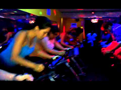 Indoor cycling class at Energy Cycling and Fitness Studio in Levittown Puerto Rico