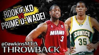 Prime Dwyane Wade vs Rookie Kevin Durant Full Duel 2008.02.29 - KD With 24, Wade With 31 Pts!