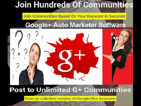 Google Plus Automation Software Community Poster G+