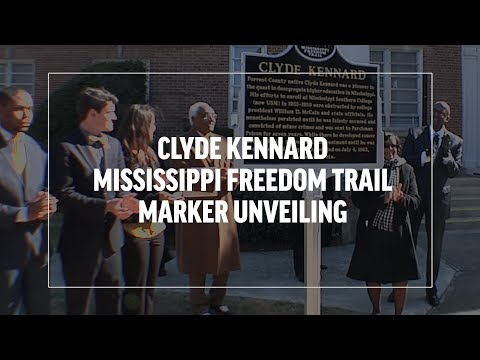 Clyde Kennard Mississippi Freedom Trail Marker Unveiling