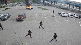 Watch |  New video of the protests and riots in Cleveland on May 30th released by Cuyahoga County