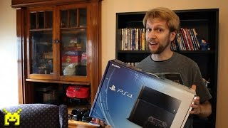 Sony PlayStation 4 (PS4) unboxing, setup & system config video(Tweet! http://bit.ly/1gRUIjY Subscribe! http://bit.ly/HXyIWM The Sony PlayStation 4 video game console released on November 15, 2013, in the USA. Gamebits ..., 2013-11-15T20:34:48.000Z)