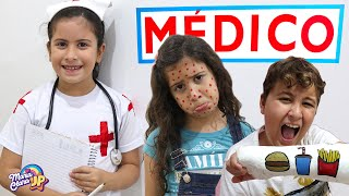 Maria Clara é médica por um dia - Compilação Maria Clara e JP ♥ Pretend Play With Doctor