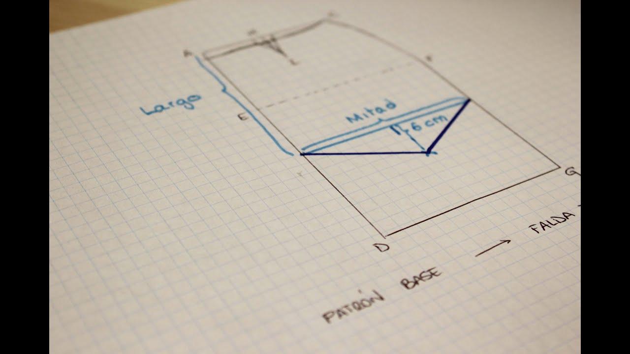 CURSO. Aprender a coser faldas parte 2: Modificar el patrón faldas ...