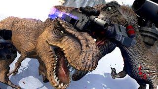 MEGA SPINOSAURUS vs T-REX BATTLE! - Beast Battle Simulator Gameplay | Pungence