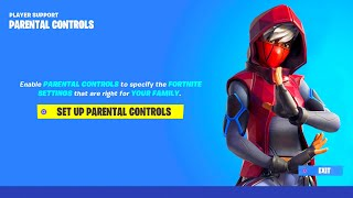FORTNITE NEW PARENTAL CONTROLS REWARDS! HOW TO DISABLE FORTNITE PARENTAL CONTROLS! FORTNITE REWARDS