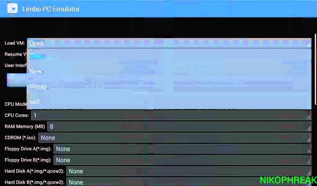 limbo pc emulator (qemu x86) tutorial