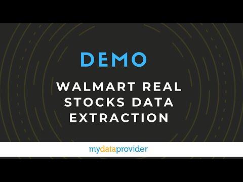 Walmart real stocks data extraction - demo