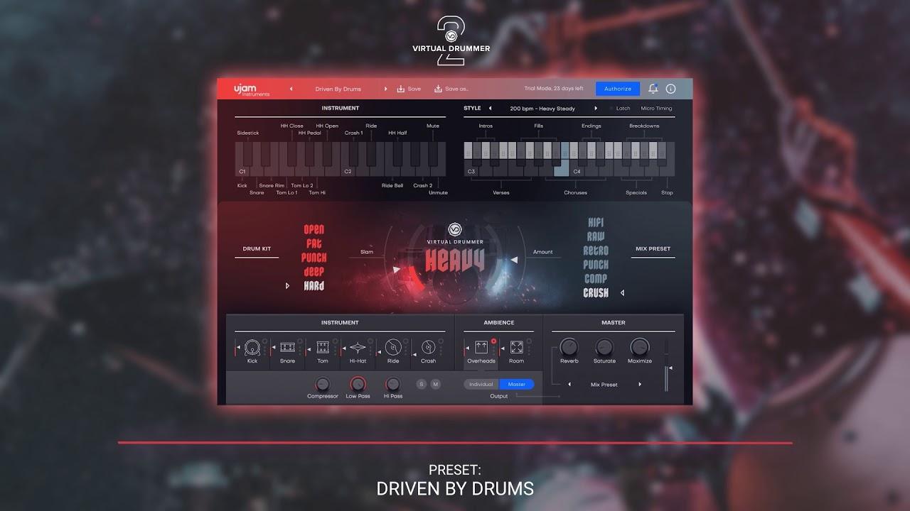 UJAM Instruments Preset Show – Virtual Drummer HEAVY 2