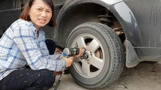 Cách vá lốp xe không săm Của Chị Gái Cửa Lò Nghệ An | Quảng Trường Nhiều Đinh Lắm  | How to fix tire