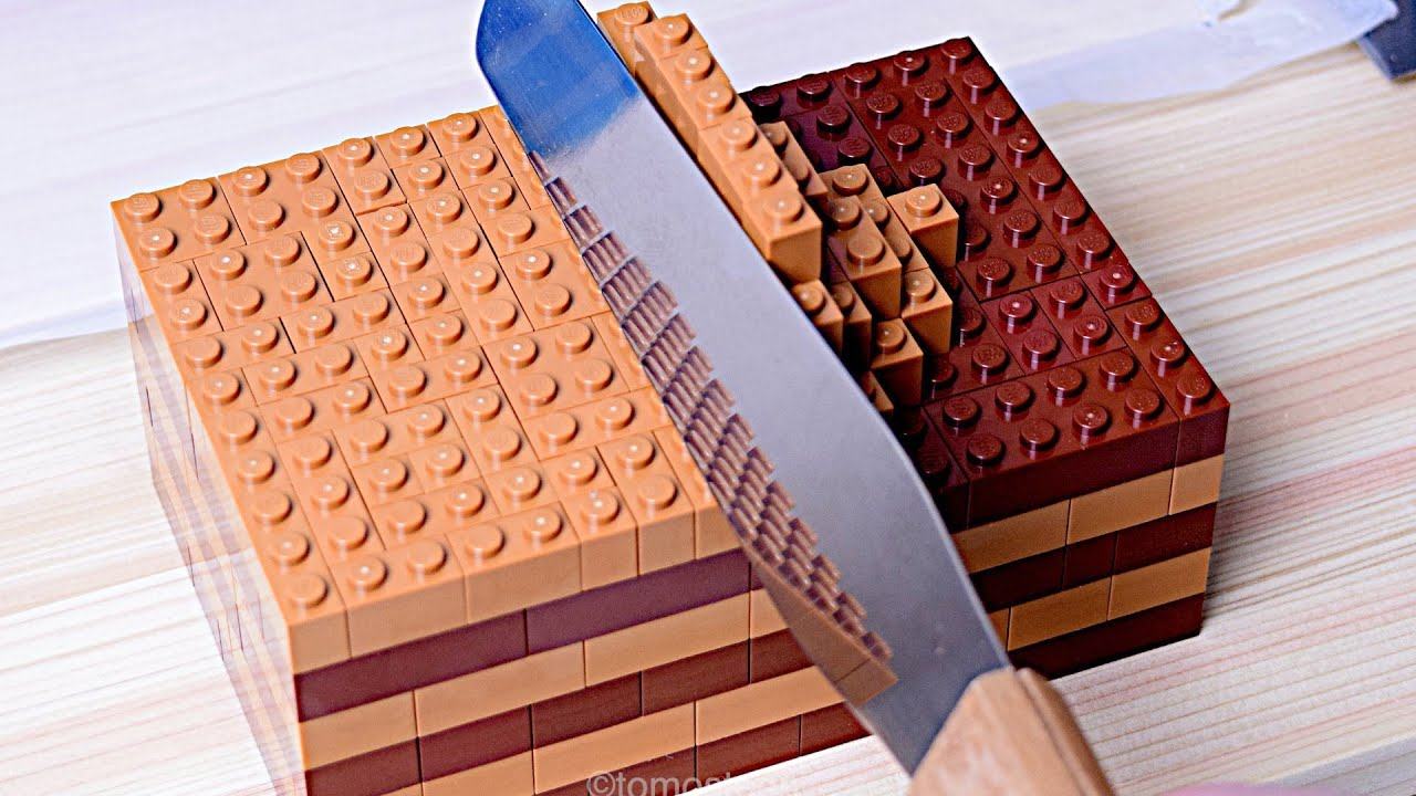 Download Lego Chocolate Cake - Lego In Real Life 10 / Stop Motion Cooking & ASMR