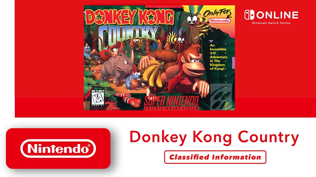 Donkey Kong Country - Classified Information - Nintendo Switch Online - Nintendo