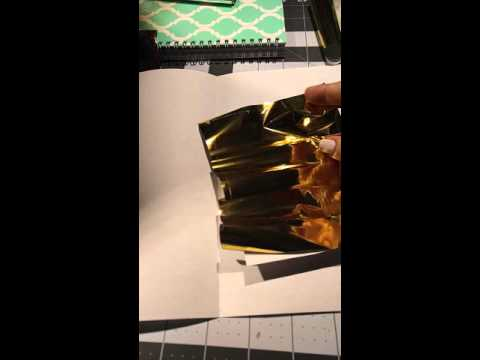 How To Foil With A Laser Printer And Laminator