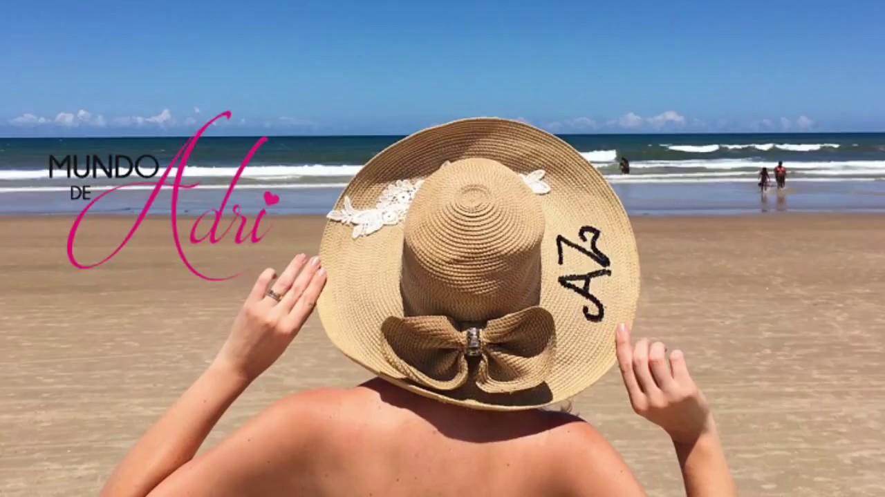 DIY- Chapéu De Praia Personalizado - Adri Zettler - YouTube e5e9ff6a115