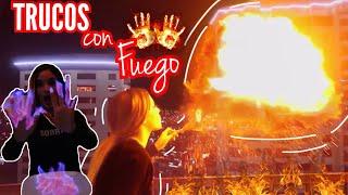 PROBANDO TRUCOS RAROS DE INTERNET CON FUEGO / Kimberly Loaiza
