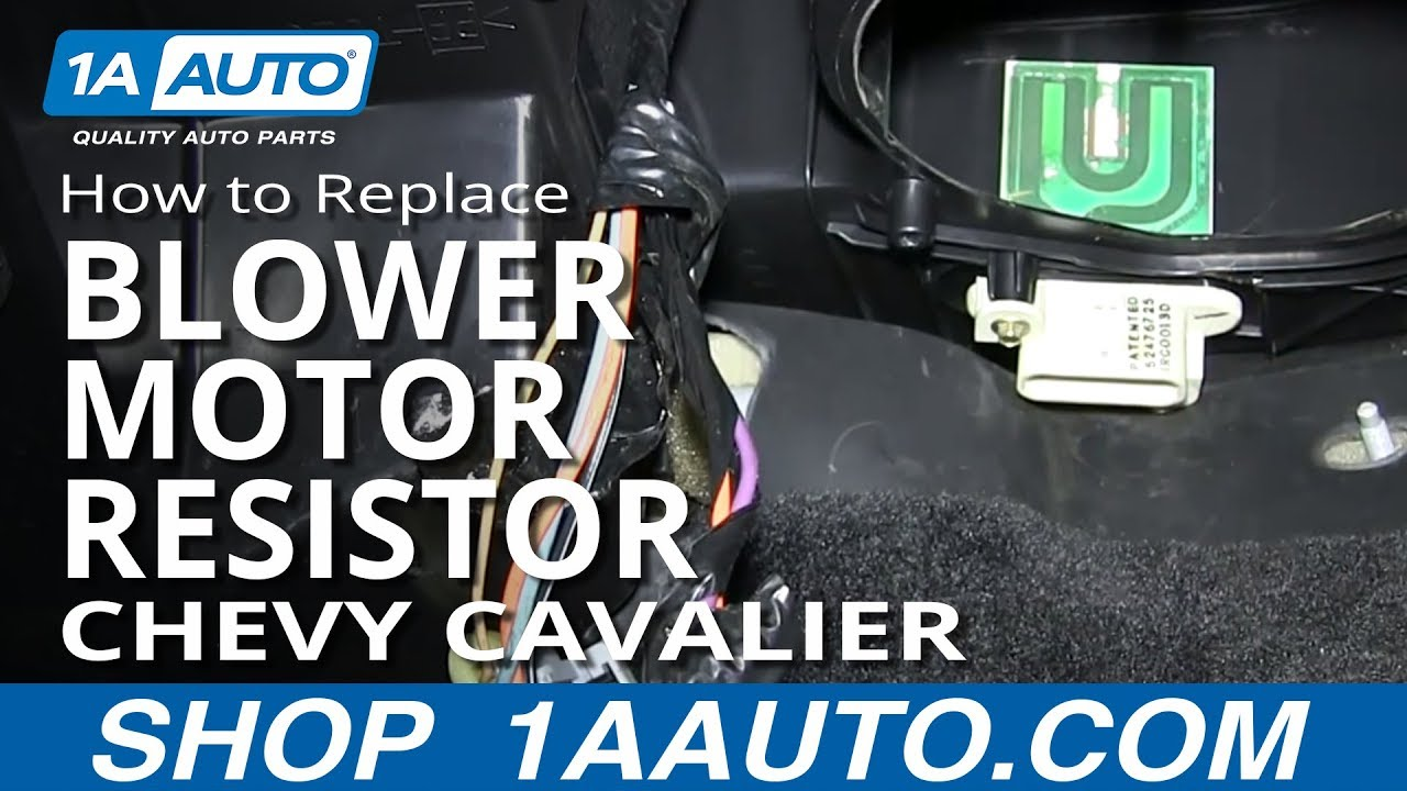 hight resolution of how to install replace ac heater fan speed resistor 1995 02 chevy cavalier