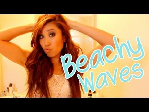 Easy How to Get Beachy Hair Tutorial - YouTube