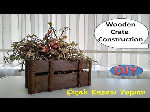 Paletten çiçek kasası yapımı / wooden crate construction
