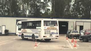 Параллельная парковка на автобусе