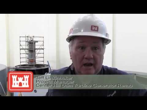 Turbine lifted to rehabilitate hydropower unit