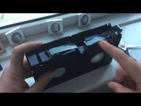 How to fix a vhs tape: part 1: the repair (read desc)
