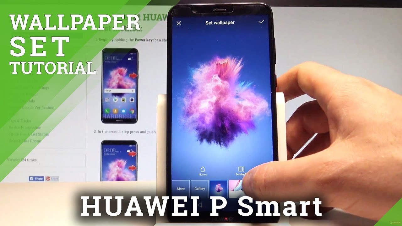 Huawei smart cover hintergrund andern