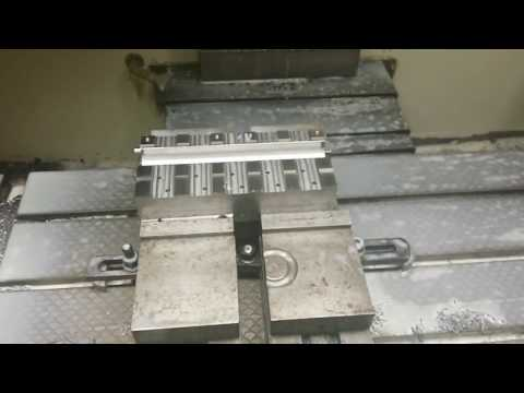 CNC milling a steel part from start to finish