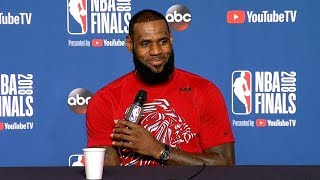 LeBron James Interview - Game 3 Preview | Warriors vs Cavaliers | 2018 NBA Finals Media Availability