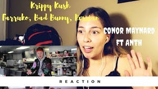 Farruko, Bad Bunny, Rvssian - Krippy Kush (English Version) Conor Maynard ft Anth REACTION