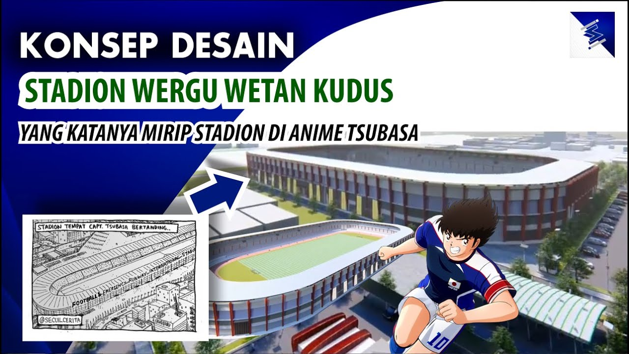 MIRIP Stadion nya TSUBASA Ozora ??, Beginilah Model Stadion Wergu Wetan Kudus Setelah Rampung
