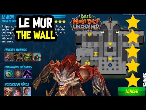 New Account WAR MAGE 5 THE WALL Le mur BLACKPAW Orcs Must Die Unchained