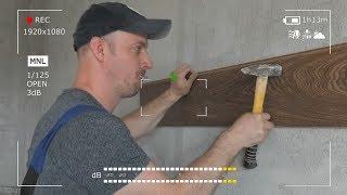 как сделать ламинат на стену