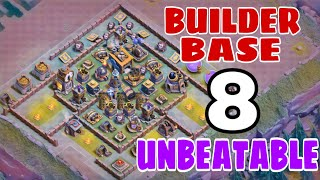 BUILDER HALL 8 BEST BASE LAYOUT w/PROOF | COC BEST ANTI 2 STAR BH8 BASE 2018 - Clash of Clans