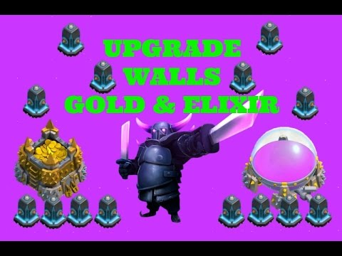 Clash of Clans: New Wall Update | Upgrade Using Gold or Elixir | Wall Update (COC Update)