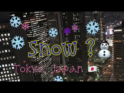 snow in tokyo 2017