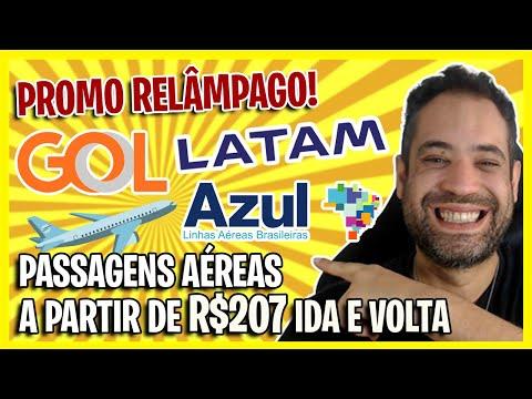 PROMOÇÃO RELÂMPAGO DE PASSAGENS AÉREAS! LATAM, GOL E AZUL A PARTIR DE R$207!