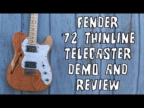 Fender '72 Telecaster Thinline Guitar Demo & Review
