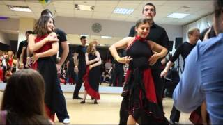 Испанский танец от учеников клуба Чердак(ХАСТЛ - популярный парный танец - импровизация. Ученики клуба
